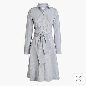 J. Crew Tie-waist shirtdress in cotton- NWT